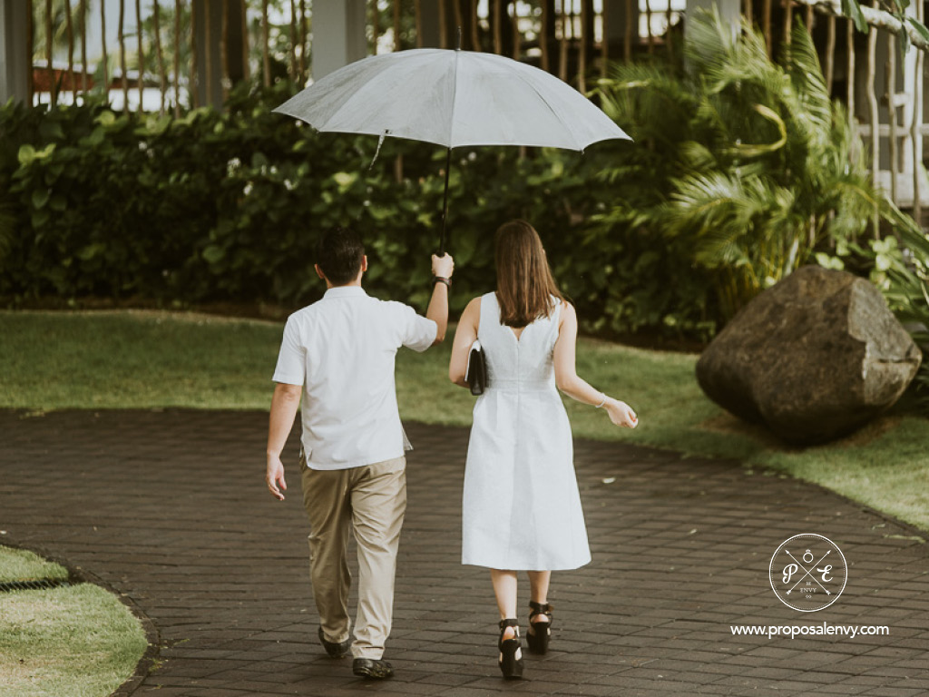 A bit of rain during the proposal