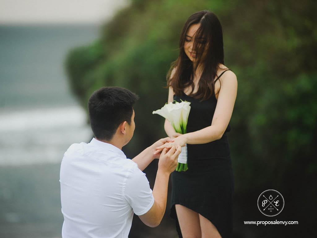 popping the question in Bali